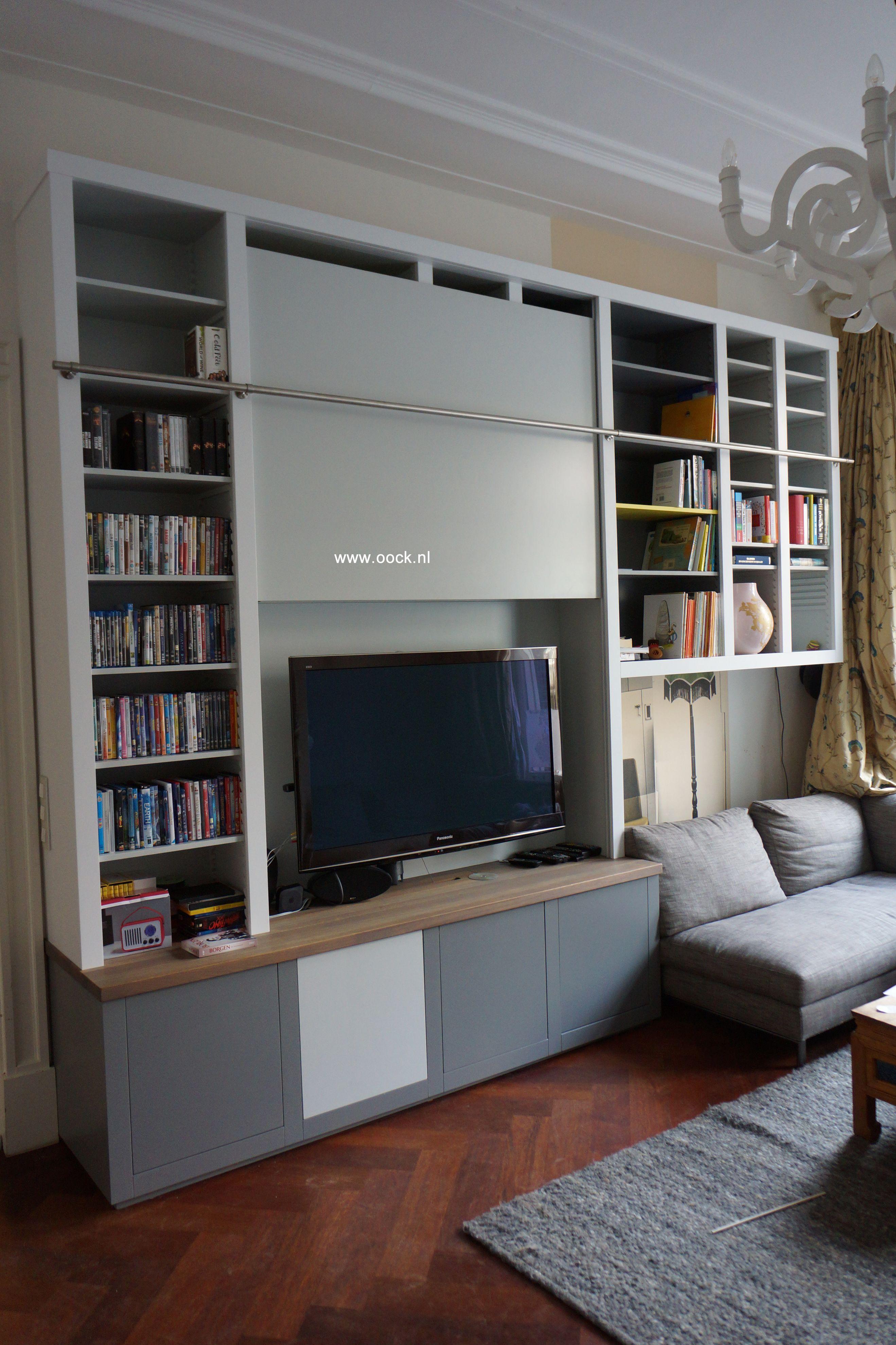 Boekenkast modern gemaakt door meubelbouwer www.oock.nl TV kast met ...