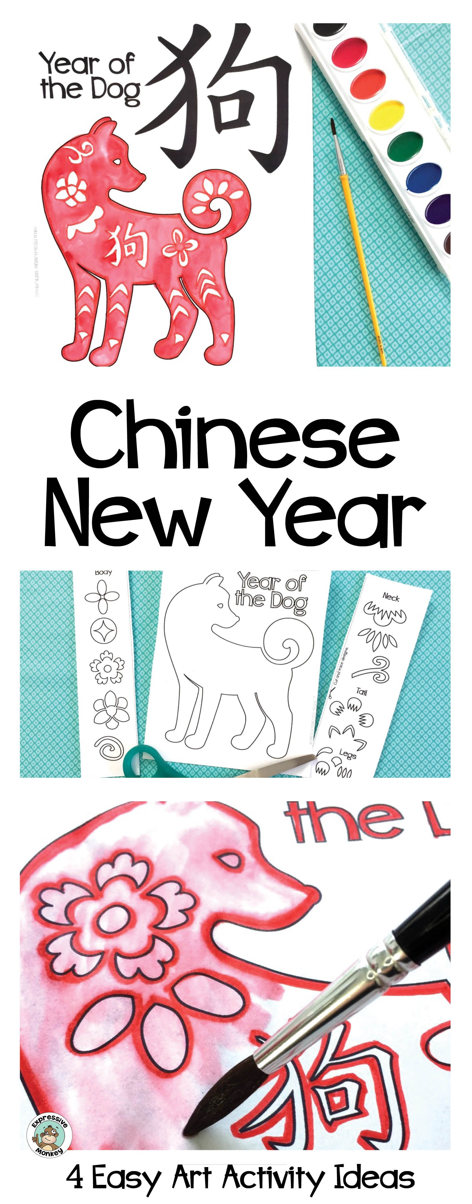 Celebrate the Chinese New Year by making a Year of the Dog craft. Add  Chinese