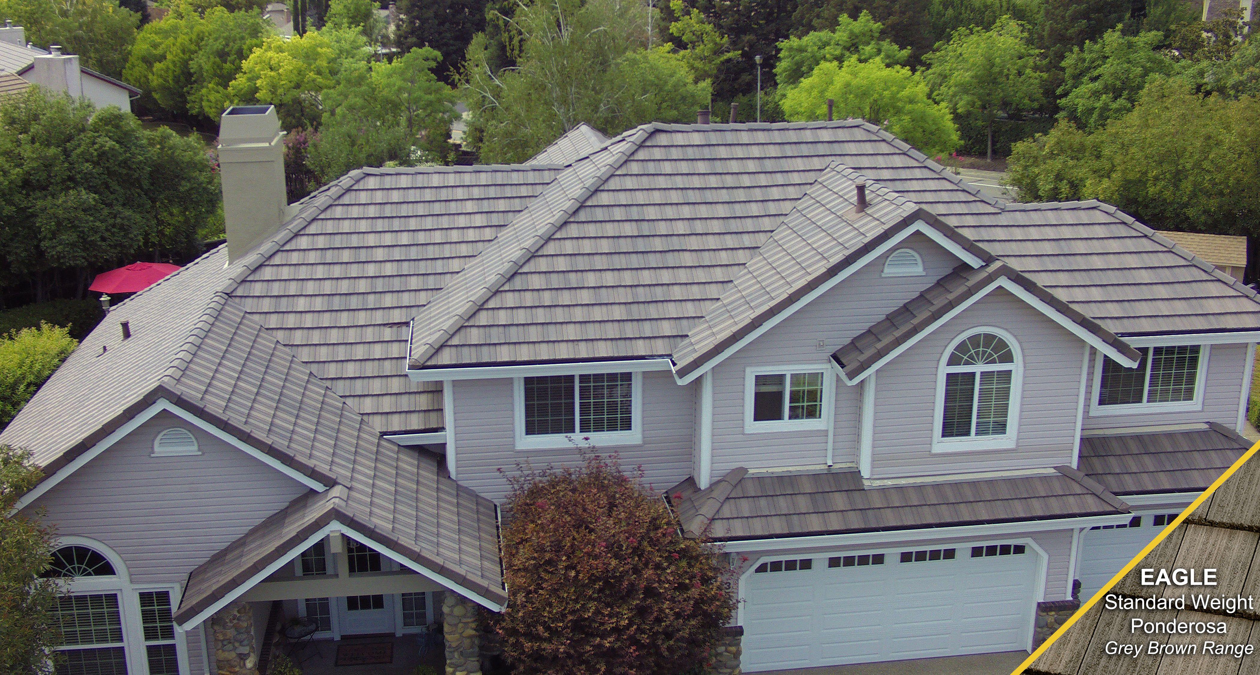 Type Concrete Tile Manufacturer Eagle Profile Ponderosa Color Grey Brown Range Concrete Roof Tiles Roof Installation Roof Tiles