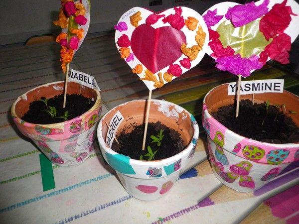 pot de fleur et carte pour Maman chez Sylvie G tribune libre