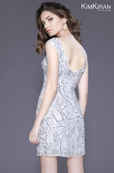 320367863dd Style 3234 Silver - This Shail K. Dress takes sleek and sexy to a whole