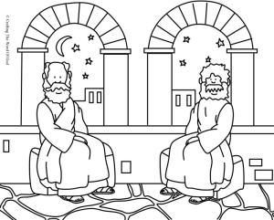Nicodemus 1 Coloring Page Crafting The Word Of God