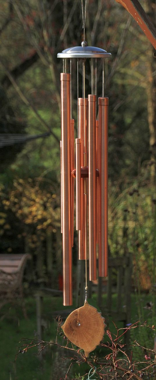 Nine Tube Copper Chime Set By Gareth Thomas From England Wind