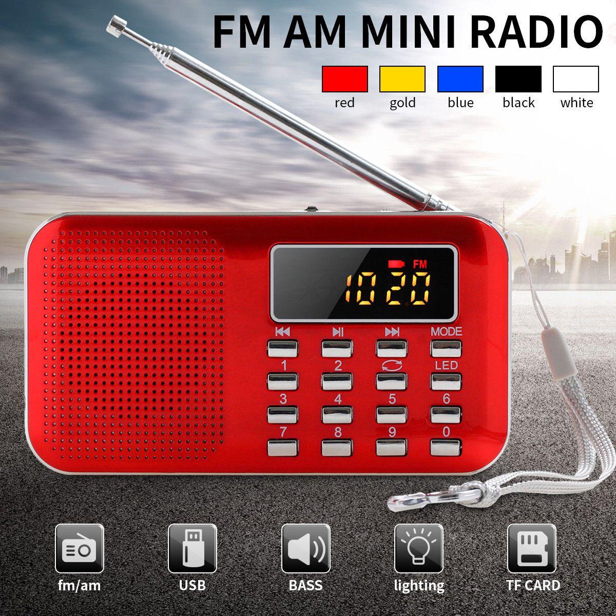 9 71 Aud Fm Am Radio Digital Lcd Mini Slim Speaker Supper Bass