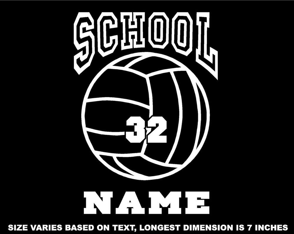 Personalized Volleyball Decal Window Sticker Car Wall Window Mirror V1 Window Stickers Sports Decals Volleyball