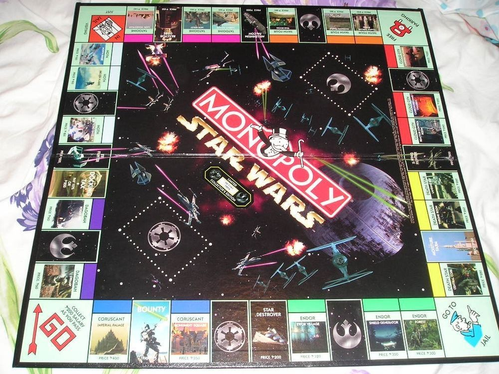 STAR WARS MONOPOLY 1997 20th Anniversary Limited Edition