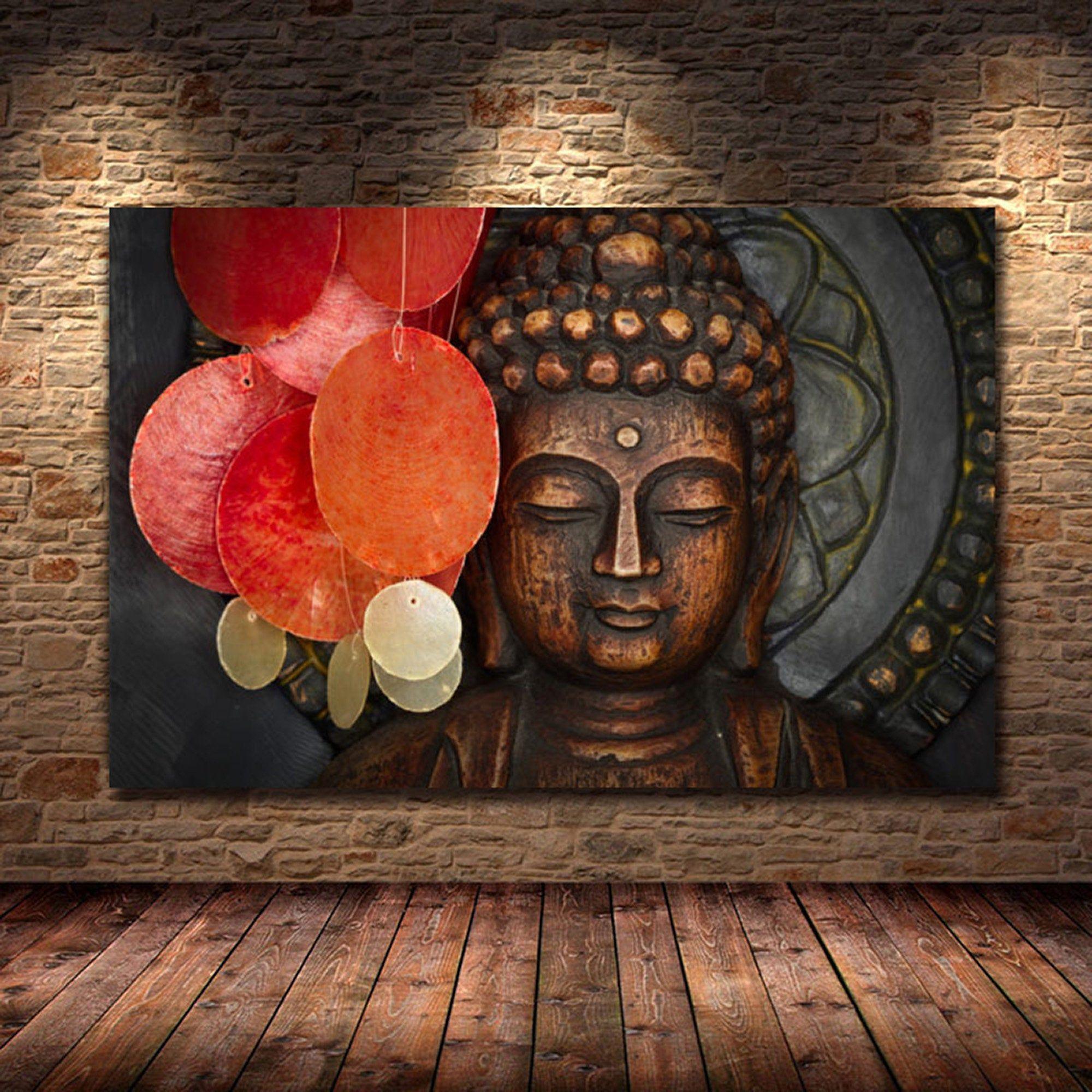 Big Buddha Art Buddhism Home Decor Nirvana Art Home Yin And Etsy Buddha Art Painting Buddha Art Buddha Painting Canvas
