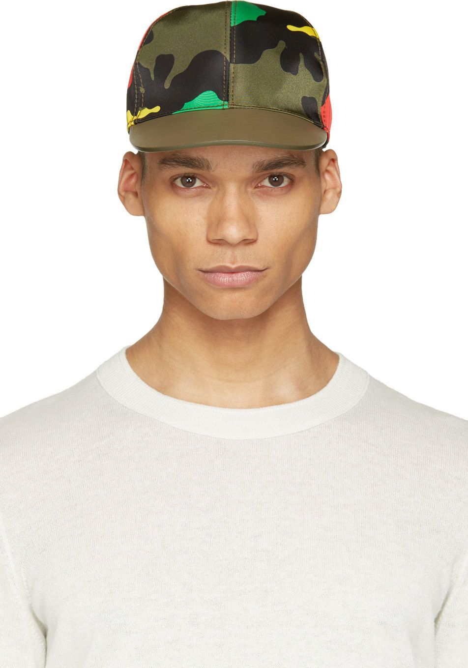 bf617ffc5d2 Valentino Green Psychedelic Camouflage Cap