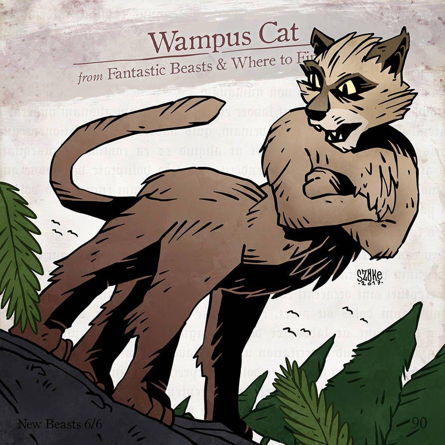 Wampus Cat By Szokekissmarton On Deviantart Cats Fantastic Beasts Harry Potter Creatures