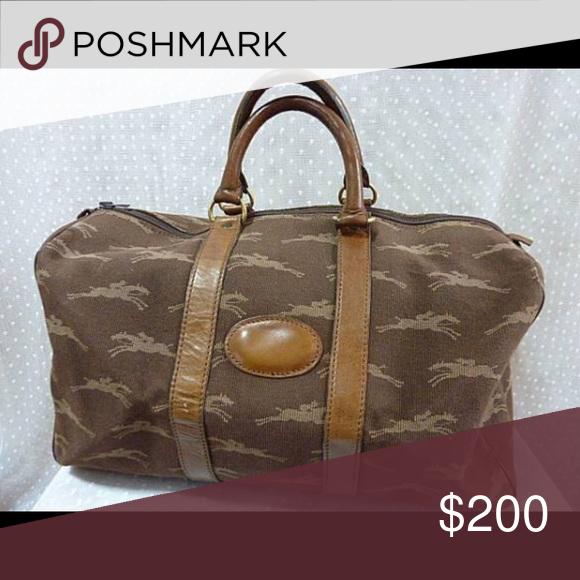 a9f72cf73c12 Longchamp Rare 80 s travel bag  Still Stunning