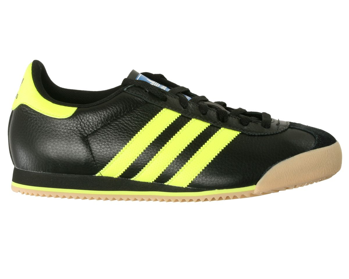 03ea7f71121 adidas kick black yellow leather trainers