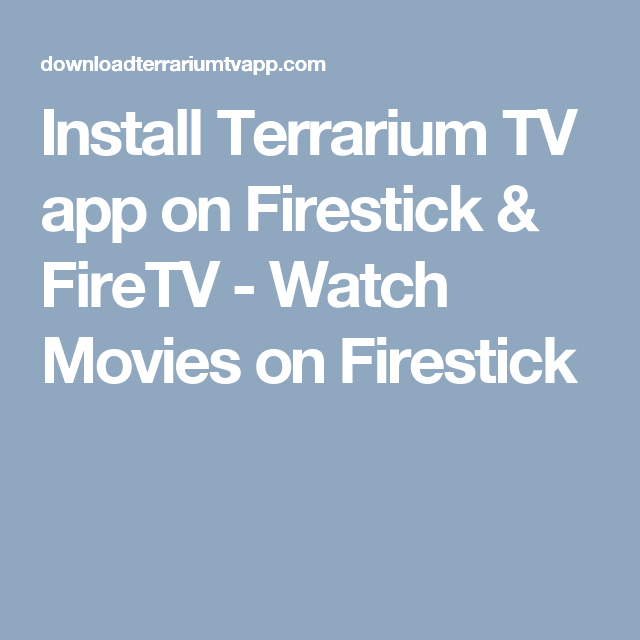 terrarium tv app for firestick