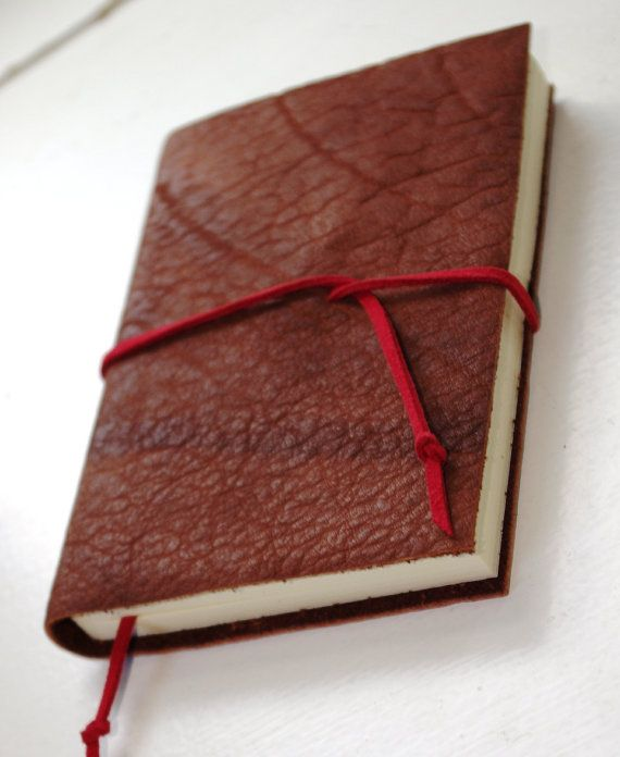 Pocket Leather Journal LINED paper Small Diary Jotter Leather Gift - color lined paper