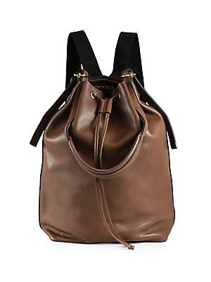 Marni Vitello Leather Backpack (converts to a shoulder bag)