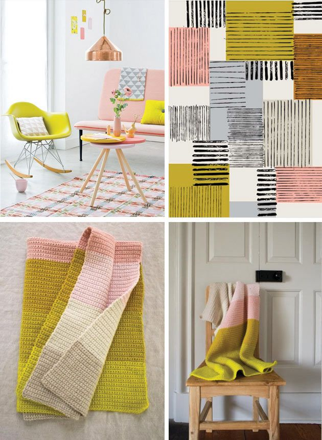 Pink Yellow Grey Selection By Famille Summerbelle Yellow