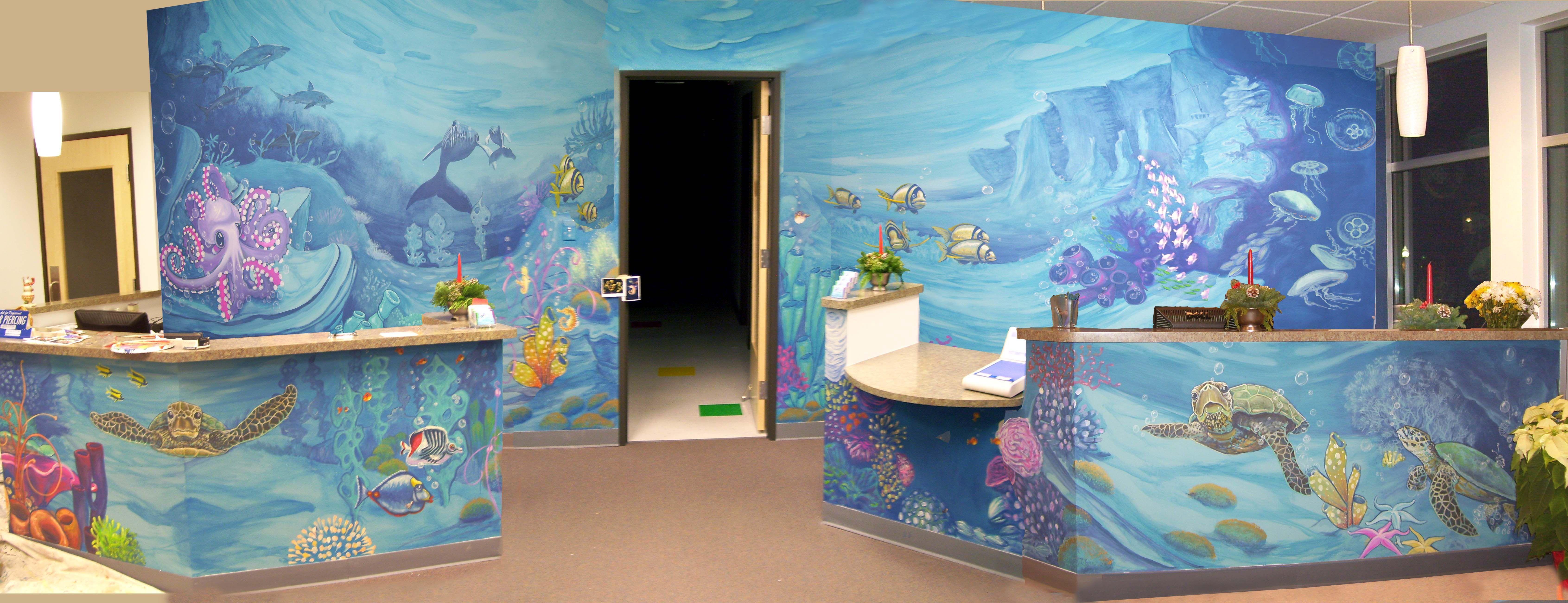 Lowry Pediatrics Lobby Mural Lobbies - Ocean floor painting