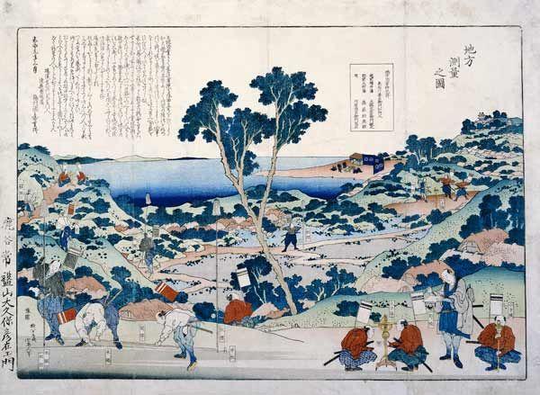 Katsushika Hokusai-Ordnance Survey Of Countryside