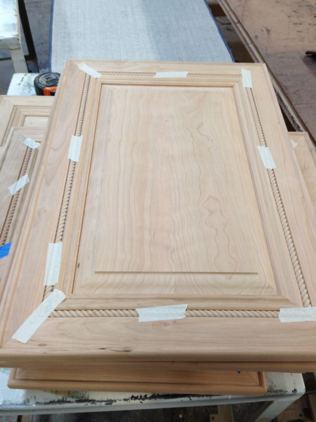 The Making Of A Kitchen Cabinet Door With Rope Detail Cabinet Doors Kitchen Cabinet Doors Bathroom Redo