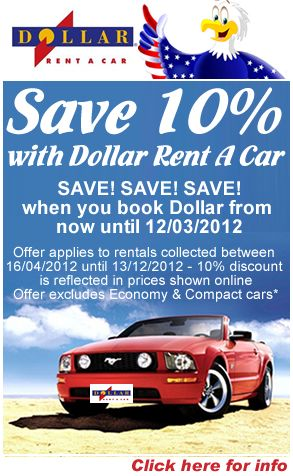 Save 10 On Dollar Car Rental Until The 12th March At Www