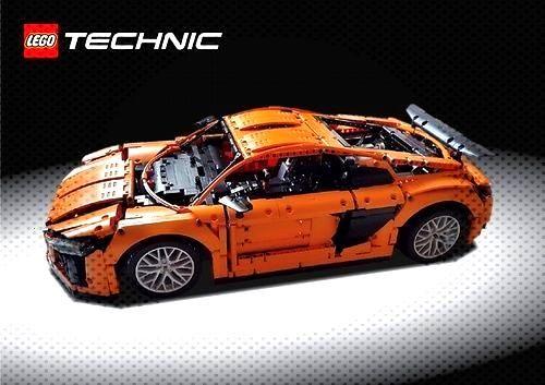 LEGO Technic Audi r8 v10 (2017) Eine LEGO® Kreation von Kasper Hansen MOCpages.c ...  - Lego Ve