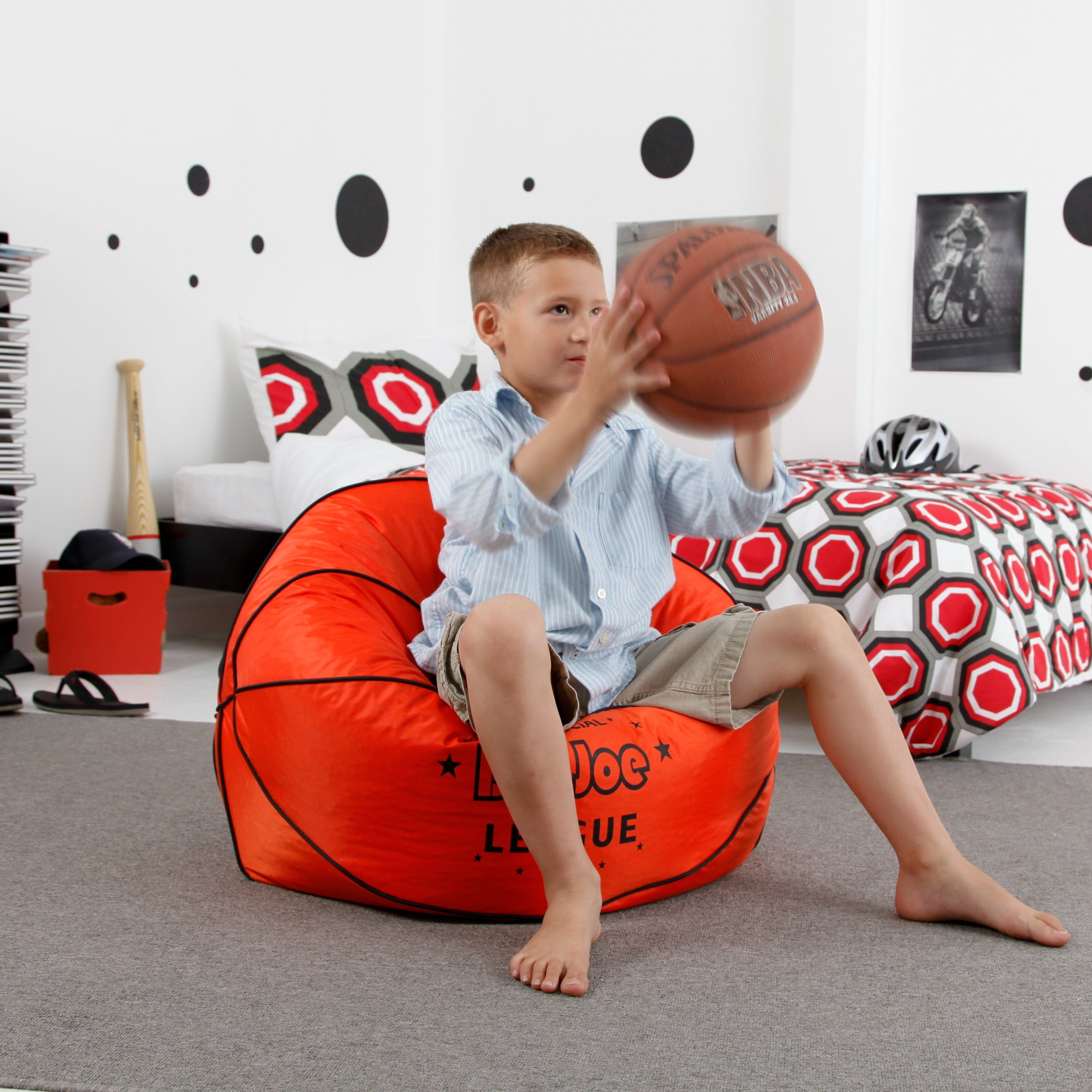 Have To It For Little Kids Reading Together Small Soccer Sports Ball Bean Bag Chair 29 98 With Free Economy Shipping