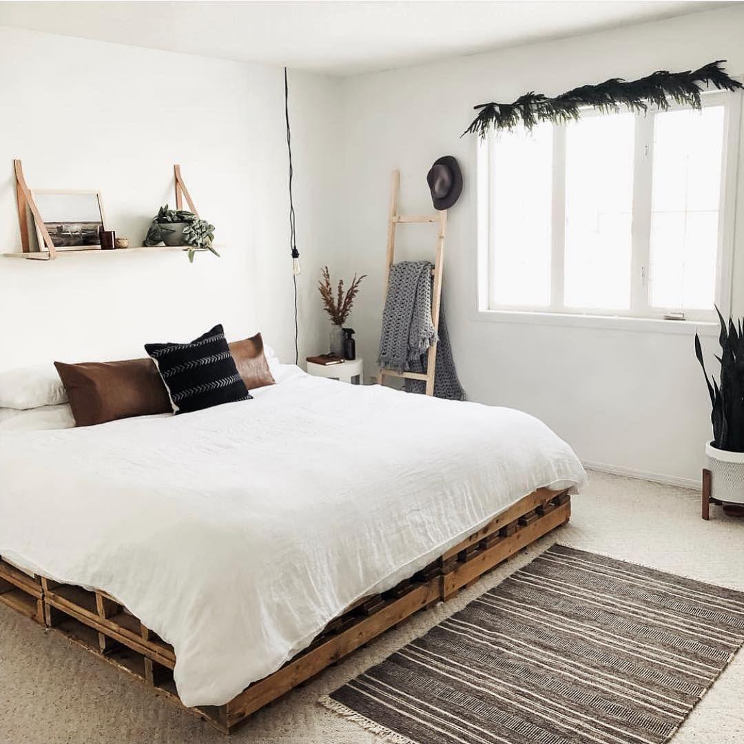 Pin By Suzanne Tate Interior Designer On Bedroom Ideas Pallet Bed Frame Diy Pallet Bed Pallet Bed Frames