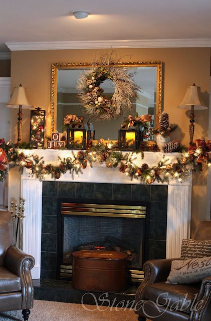 StoneGable: Deck The Halls... Walls, Floors, Tables And Mantel
