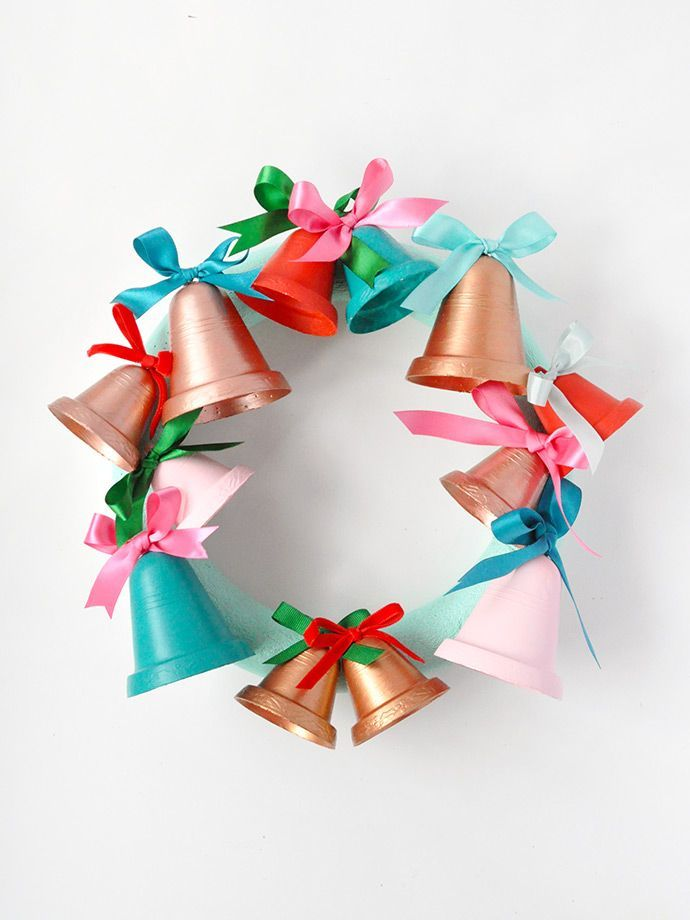 Painted Jingle Bell Wreath Jingle bells