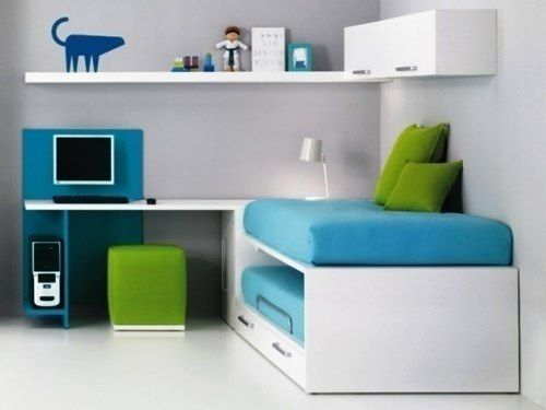 Juego dormitorio juvenil cama escritorio muebles tuestilo for Cama escritorio juvenil