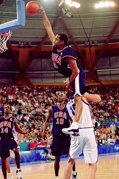 My Personal Favorite Dunk Vinsanity Over The Country France In The 2000 Olympics I Like This One So Much Because I Remember 2000 Olympics Sports Best Dunks