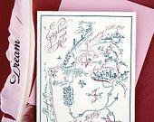 SavetheDate Map Featured in Martha Stewart by eDanae on Etsy
