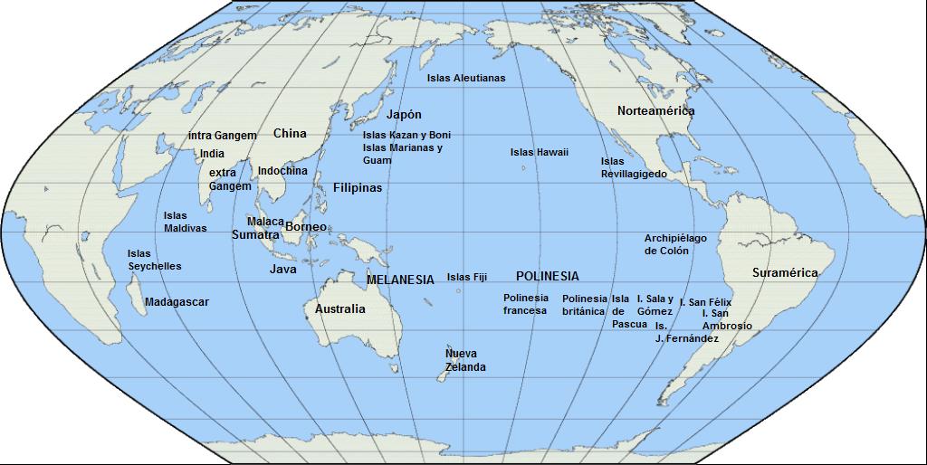 Resultado De Imagen De Ubicacion En El Mapa De Oceania Isla