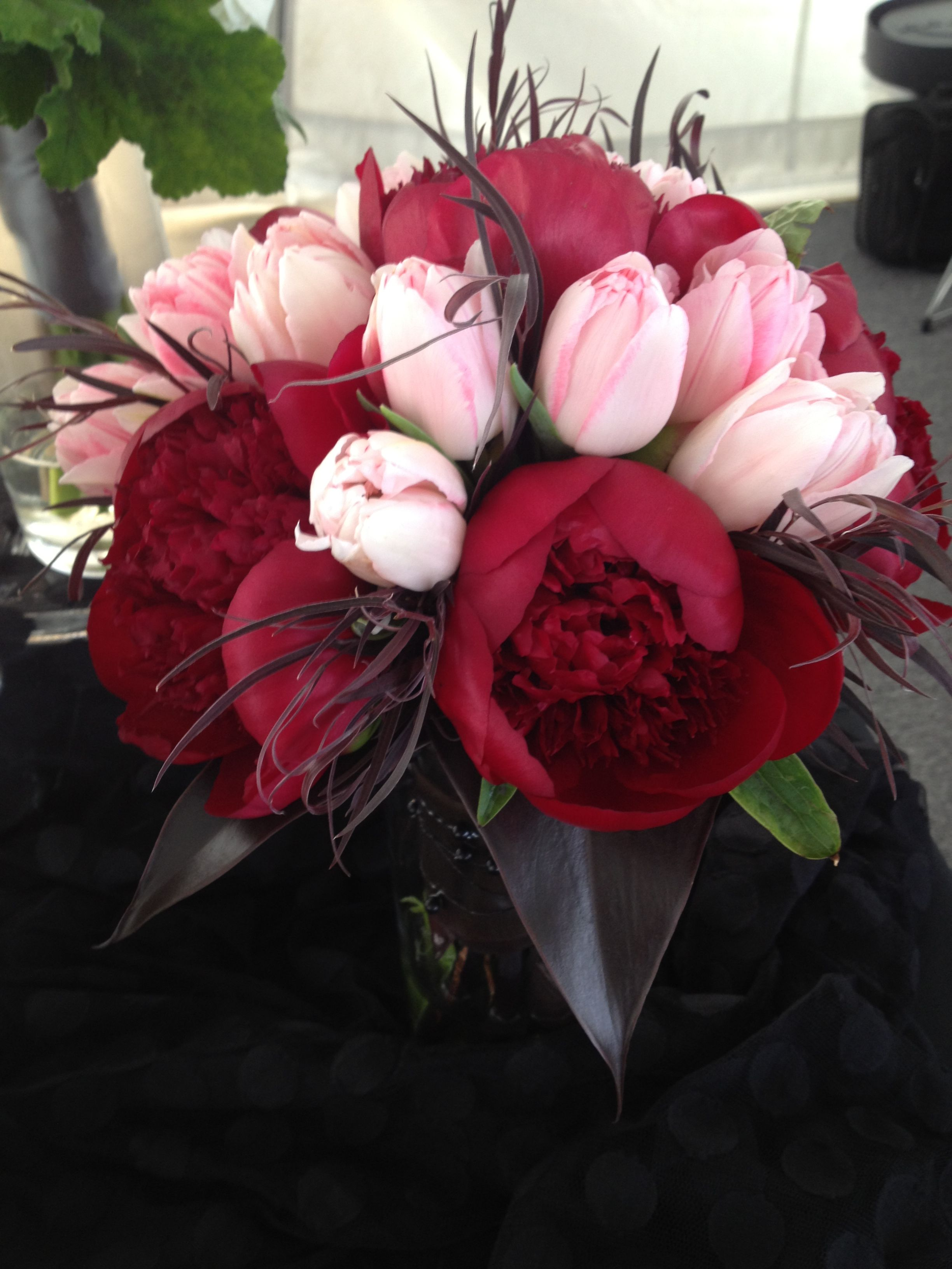 Bouquet Inspiration | Red peonies, Tulip bouquet and Pink ...