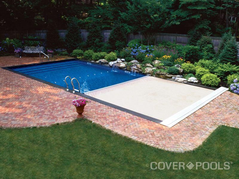 Automatic Locking Pool Cover Divingboardtips Pool Cover Inground Pool Covers Waterfalls Backyard