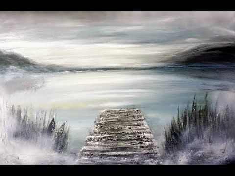 Acrylmalerei-Landschaft-Abstract-Landscape-Acrylic Painting/V162 /The Silence