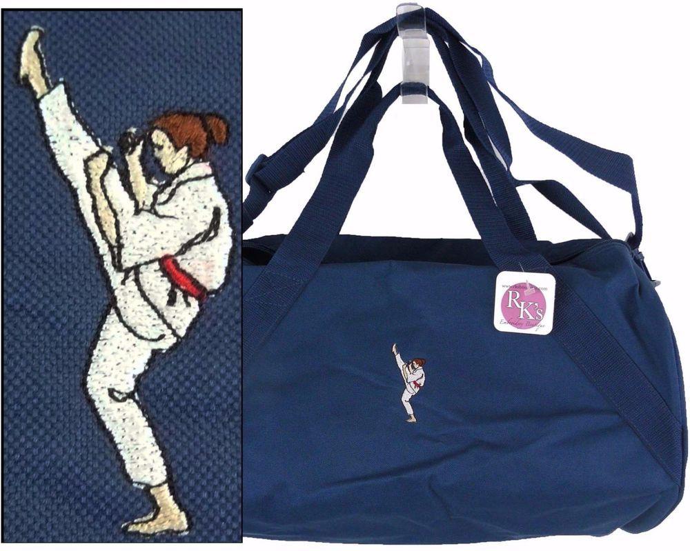887a7fbf3e Karate Woman Duffel Bag Martial Arts + Name Monogram Custom Embroidered NWT   LibertyBags