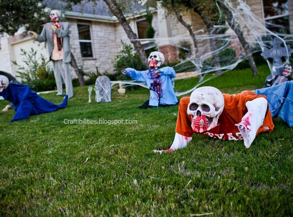 scary halloween decorations diy tutorial zombie skeletons so cool