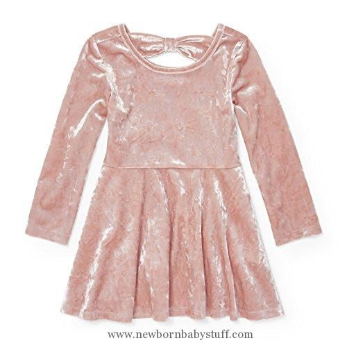 330387e97 Baby Girl Clothes The Children's Place Baby Little Girls' Solid Crushed  Velved Dress, Rose Dust 88405, 5T