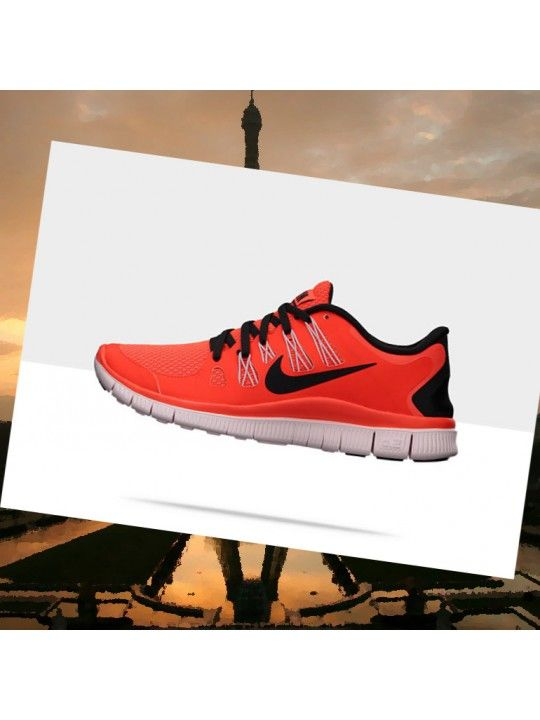 photos officielles 60d25 959c8 Nike Free 5.0+ Femmes De Corail Orange Black Pearl Rose ...