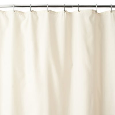 Wamsutta 54 X 78 Shower Stall Fabric Curtain Liner With Suction Cups In Ivory