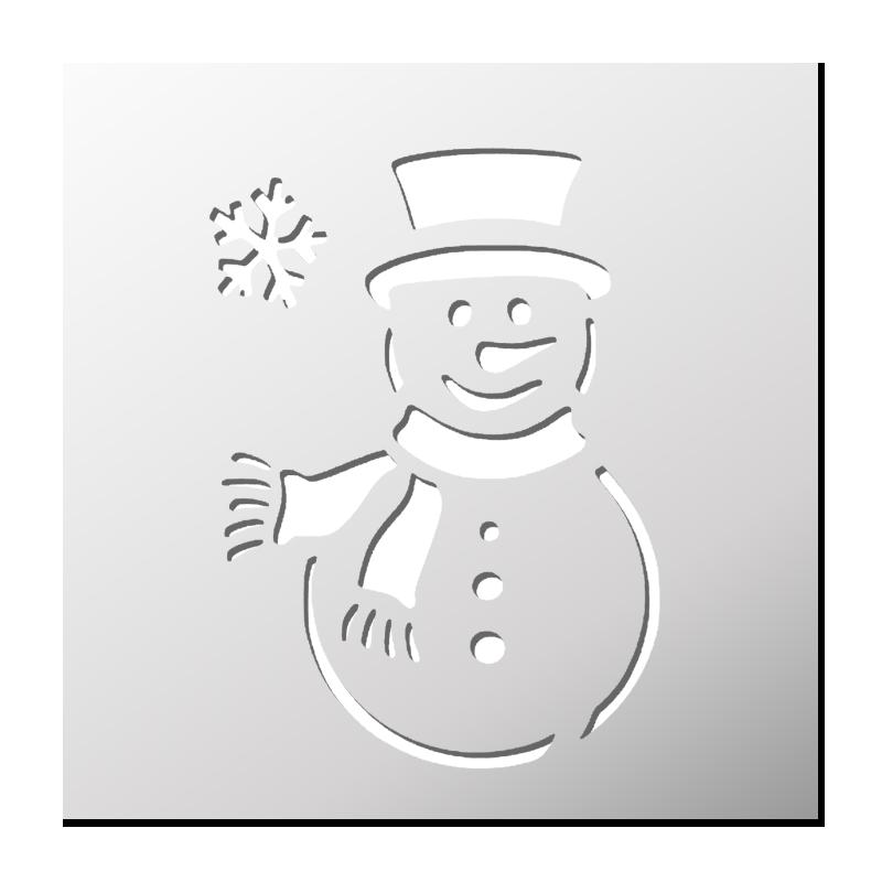 Pochoir Bonhomme De Neige Pochoirs Christmas Silhouette Cameo