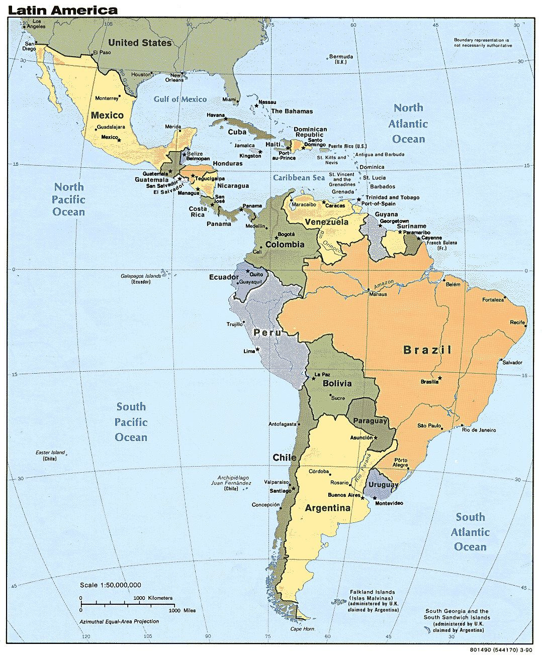 Central Americacountries In Latin America Cuba Coast Rica - Jamaica On Us Map