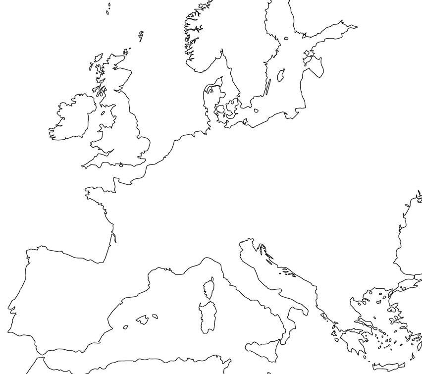 blank map of europe | Blank Europe Map | Places to Visit | Pinterest ...