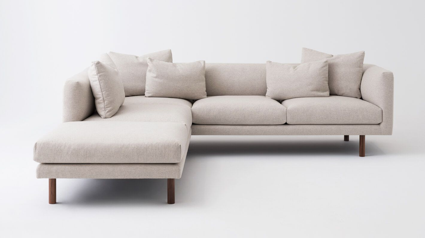 Replay 2 Piece Sectional Sofa With Backless Chaise Eq3 2 Piece Sectional Sofa Sectional Sofa With Chaise Sectional Sofa