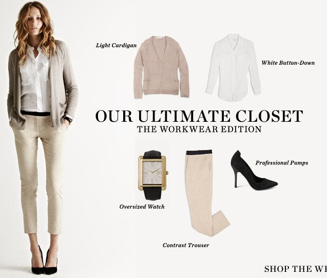 Shopbop ultimate closet / nude work outfit