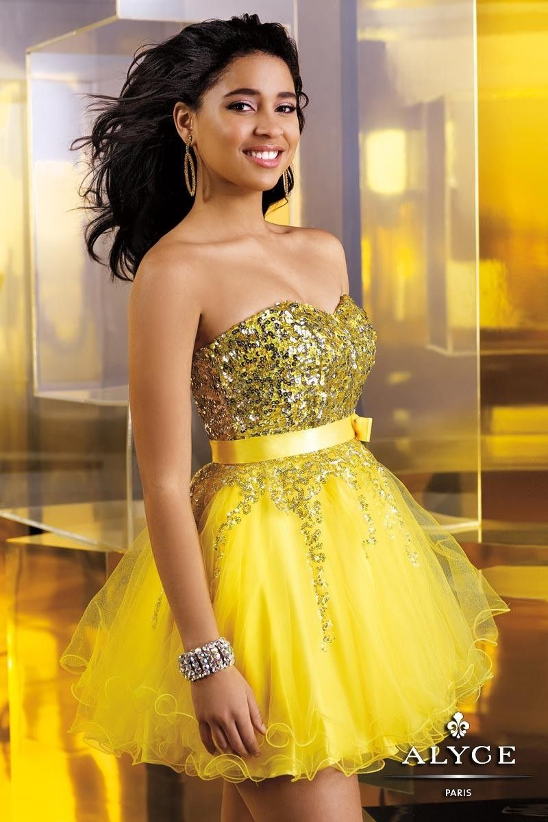 Special 2014 Tulle Alyce Sweet Sixteen 3549 Short Bow Prom