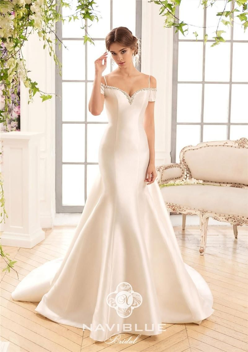 2017 naviblue plus size mermaid wedding dresses sexy for Satin mermaid style wedding dresses