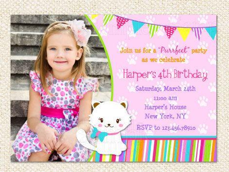 Kitty cat birthday invitations birthdays and birthday party ideas kitty cat birthday invitations by lollipopprints on etsy filmwisefo