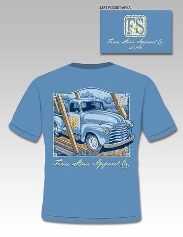 "Finn Stone ""Finn's Truck on a Comfort Colors Tee"