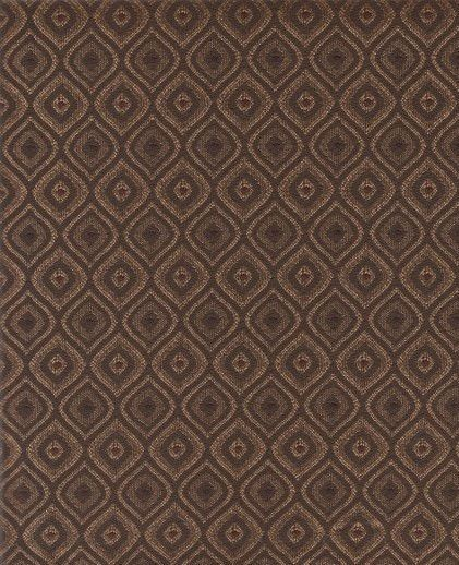 Capote Godiva Diamond Pattern Brown Upholstery Fabric